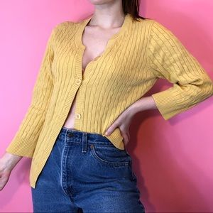 💓Jeanne Pierre Yellow Button Up Cardigan💓